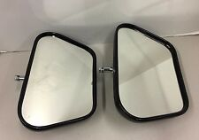 "New Ford Style Truck Swing Away Mirror Heads Pair Black Plastic Swivel 6"" Tall"