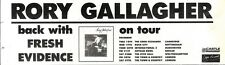 22/12/90 Pgn84 Advert: Rory Gallagher Back With fresh Evidence & Tour 3x11