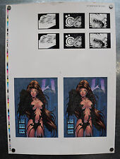 Witchblade Trading Cards Uncut Sheet Etched Foil Signature Michael Turner