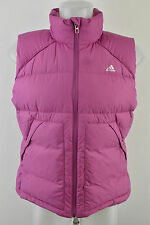 Women`s Adidas DuPont Pink Padded Vest Down Feather Sleeveless Jacket UK 16