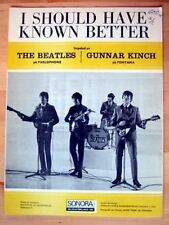 The Beatles origi.cSwedish sheet music Printer's Copy I should have known better