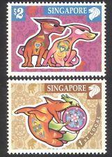 Singapore 2006 Year of the Dog/YO/Animals/Nature/Lunar/Zodiac 2v set  (n18388)