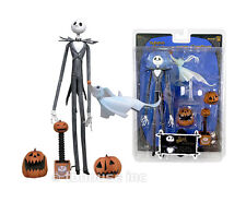 JACK SKELLINGTON w/ZERO figure NIGHTMARE BEFORE CHRISTMAS xmas NECA nbx SERIES 1