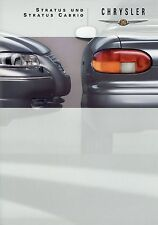 Prospetto Chrysler Stratus + Cabrio 9 99 1999 opuscolo auto prospetto AUTO AUTOMOBILI