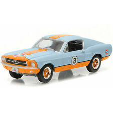 Greenlight 1967 Ford Mustang Gulf Oil #8 GL Muscle 1:64 Light Blue 13160-A