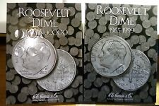 ROOSEVELT DIMES COMPLETE SET 1965 TO 2016-PD  VF TO BU 103 COINS IN NEW ALBUMS