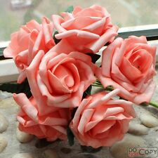 100pcs Real Touch Flowers For Wedding Decorations Table Centerpieces Fake Roses