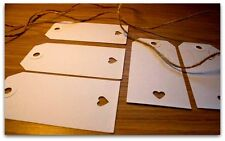 50 Winter White Heart Wedding Tags |Guest Name Place Cards |Wishing Tree Labels