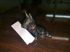 VINTAGE CAST IRON PLACE CARD HOLDER MINIATURE SCOTTIE HUBLEY Dog NO 439