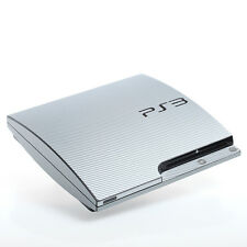 Silver Carbon PS3 slim Textured Skins -Full Body Wrap- decal sticker cover