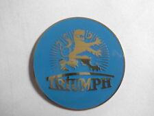schild  Triumph  Typenschild TWN rechts blau/Messing
