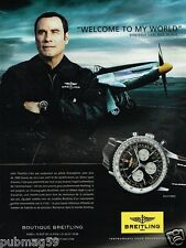 Publicité advertising 2013 La Montre Breitling avec John Travolta