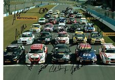BTCC Multi Signed HUGE 16 x 12 Photo AFTAL COA 19 Autographs TOURING Inc PLATO