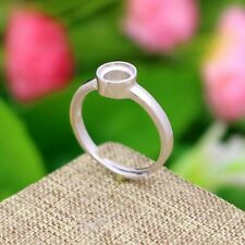 5MM ROUND CUT SEMI MOUNT WOMEN ENGAGEMENT RING 925 STERLING SILVER SETTING