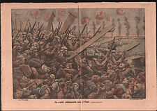 Rush Deutsches Heer Yser Belgique Pickelhaube Casque à pointe 1914 ILLUSTRATION
