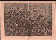 Rush Deutsches Heer Yser Belgique Pickelhaube Casque à pointe 1914 ILLUSTRATION