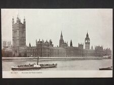 RP Vintage Postcard - London #H11 - Houses of Parliament - Steamboat