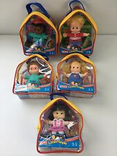"NEW Fisher Little People 5"" Plush Doll Lot Set SONYA SARAH MAGGIE MICHAEL EDDIE"