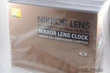 Nikon NIKKOR 80th Anniversary Lens Clock ** Not for sale ** Rare **New** (#1086)