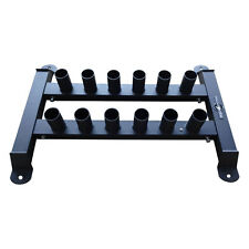 Muscle Motion Olympic 12 Bar Holder For barbell gym fitness training