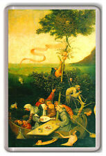 HIERONYMUS BOSCH SHIP OF FOOLS 1490-1500 FRIDGE MAGNET IMAN NEVERA