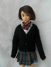 v cardigan  fatto a mano momoko,pullip,fashion royalty, barbie,blythe,pure neemo