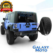 07-17 Jeep Wrangler JK Rock Crawler Rear Bumper with Tire Carrier Black Textured