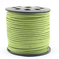 10 Yards/Bundle Green Faux Suede Cord Leather Lace Jewelry Findings Thread