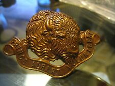 ANTIQUE BADGE 1925 Prince Albert  CANADA Volunteer BUFFALO Copper Saskatchewan