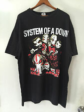 Vintage System Of A Down Cartoon Graphic Mens T Shirt Size XL Cotton Black Band