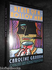 SIGNED; Caroline Graham - Death of a Hollow Man - 1990-1st, Midsomer/Barnaby HB