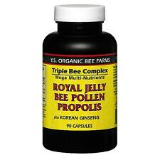 Y.S. ORGANIC BEE FARMS Royal Jelly Bee Pollen Propolis 90 Capsules