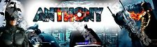 "Batman Poster 30"" x 8.5"" Personalized Custom Name Painting Printing"