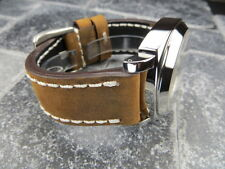 New 22mm Big Assolutamente Leather Strap Brown Watch Band PAM 22 mm
