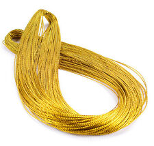 100M Gold/Silver Metallic Purl Wire Coil Bullion Cord Jewelry Findings DIY 1.0MM