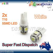 LED 2x T10 WHITE 5SMD 5050 for Car Side Light Parker Bulb Lamp DC 12V