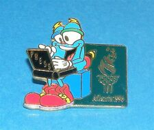 ATLANTA 1996 Olympic Collectible Media Pin - Mascot IZZY Press Laptop Computer