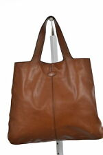 Tods Womens Brown Tote Bag Sz L Casual Leather Purse Handbag
