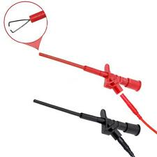 2pcs Pro Insulated Quick Test Hook Clip High Voltage Flexible Testing Probe 36ZD