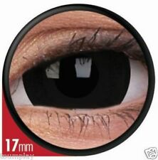 lentille de couleur MINI sclera NOIRE lens TITAN black contact 17mm cosplay NEW