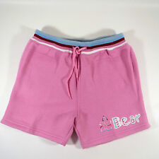 BNWT BEAR USA Girls LITTLE MISS BEAR Pretty Pink & White SHORTS  Age 6 - 7 Years