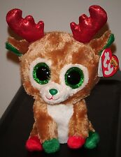 "Ty Beanie Boos ~ ALPINE the 6"" Reindeer (Red Antlers) ~ MINT with MINT TAGS"