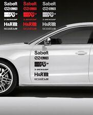 Indiashopers 12Pcs Racing Sponsors Logo Sport Sticker Emblem Decal