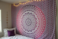 Ombre Indian Mandala Hippie Tapestry Wall Hanging Bedding Bedspread Ethnic Throw