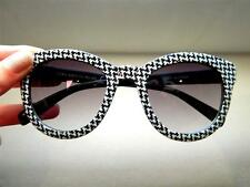 ZARA BLACK WHITE HOUNDSTOOTH PRINT SUNGLASSES SHADES 100% UV  5875/202