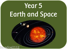 KS2 Y5 Science topic EARTH AND SPACE - teaching resources IWB display printables