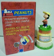 Avon Peanuts Lucy Van Pelt All Stars Baseball Collectible Candle Jar