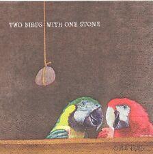 2 serviettes en papier Animaux au bar Perroquet Paper Napkins Two Birds