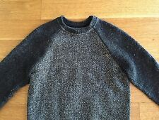 T by Alexander Wang Mens Gray Wool Blend Oversized Sweater Size XS $525