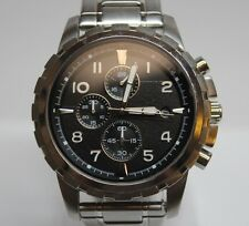 Fossil FS4542 All Stainless Men's 45mm Chronograph Quartz Wrist Watch LOT#1120